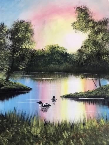 A Looney Lake II paint nite project by Yaymaker