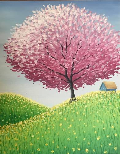 A Spring Time Hide Out paint nite project by Yaymaker