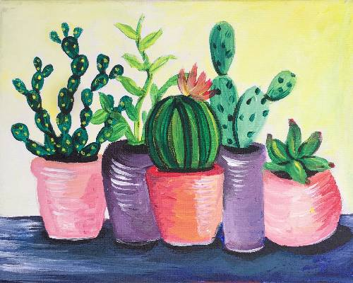 A Cactus Collection III paint nite project by Yaymaker