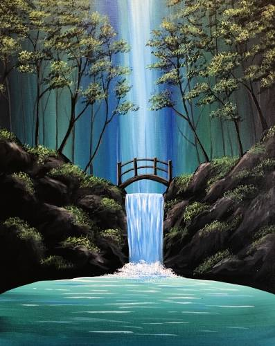 A Blissful Falls paint nite project by Yaymaker