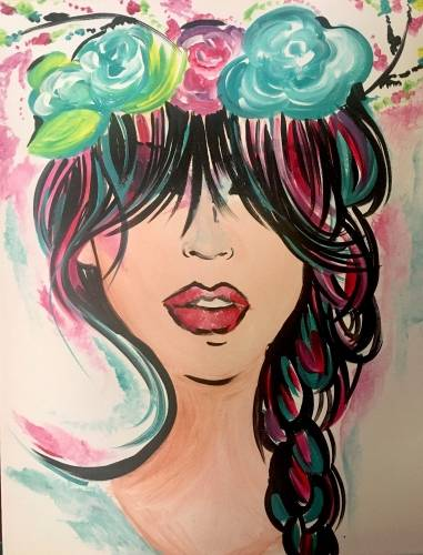 A Braided Beauty paint nite project by Yaymaker