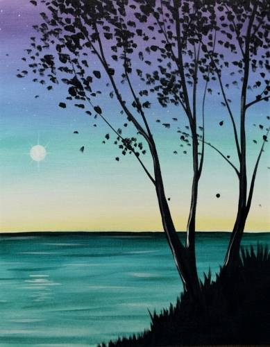 A Sunrise On The Lake paint nite project by Yaymaker