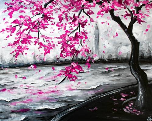 A DC Cherry Blossoms II paint nite project by Yaymaker