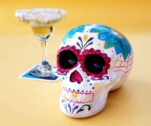 A Cinco De Mayo Ceramic Sugar Skull ceramic painting project by Yaymaker