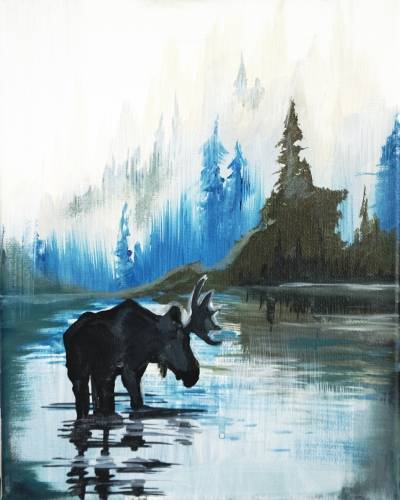 A Moose State Of Mind paint nite project by Yaymaker