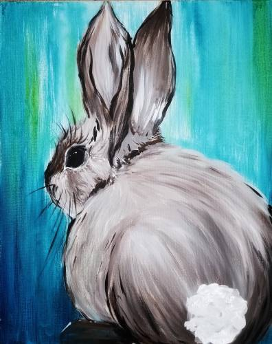 A Spring Bunny II paint nite project by Yaymaker