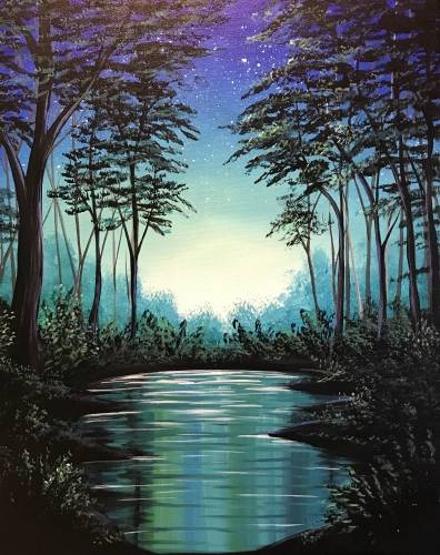 A Twilight River paint nite project by Yaymaker