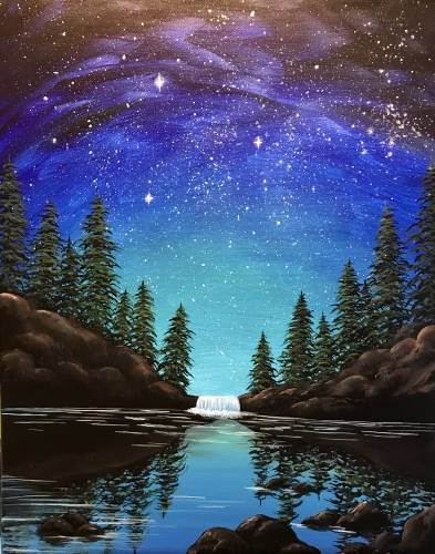 A Midnight Falls paint nite project by Yaymaker