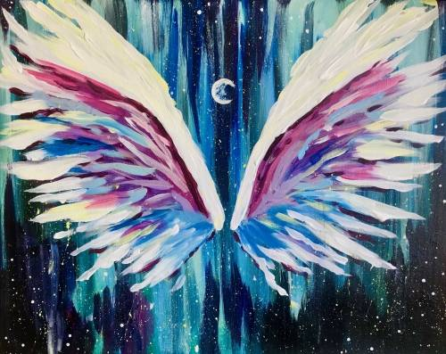 A Moon Angel paint nite project by Yaymaker