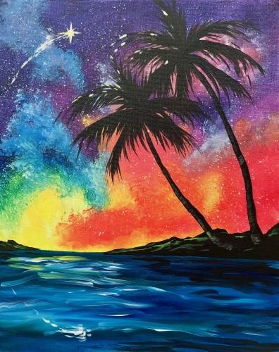 A Beach Dreamer paint nite project by Yaymaker