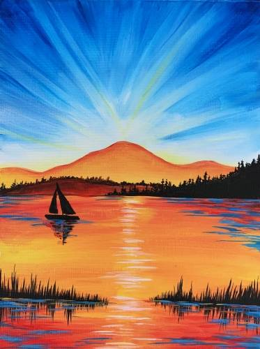 A Morning Glory Silhouette paint nite project by Yaymaker