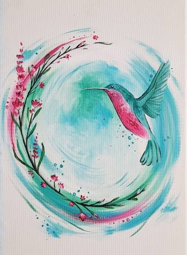 A Little Hummingbird paint nite project by Yaymaker