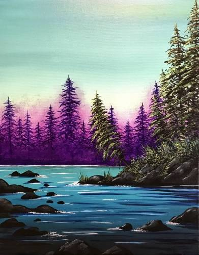 A Violet Forest paint nite project by Yaymaker