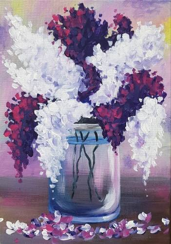 A Blooming Bouquet paint nite project by Yaymaker