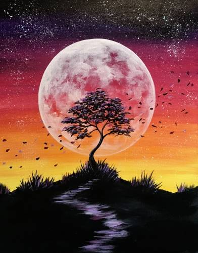 A Wind Swept Dusk paint nite project by Yaymaker