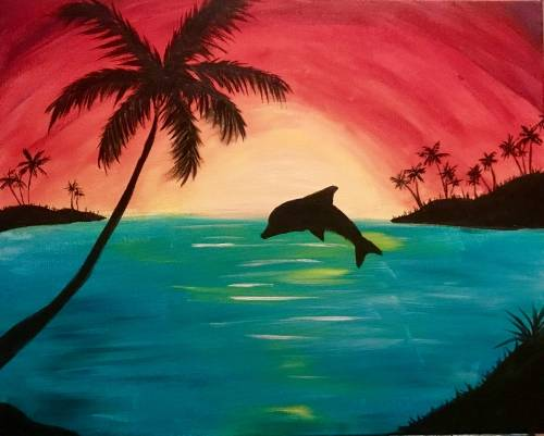 A Island Fun paint nite project by Yaymaker
