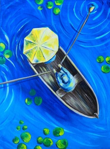 A Row Boat Romance paint nite project by Yaymaker