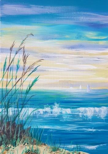 A Sunset Sailboats paint nite project by Yaymaker