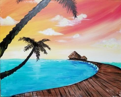 A Home Away paint nite project by Yaymaker
