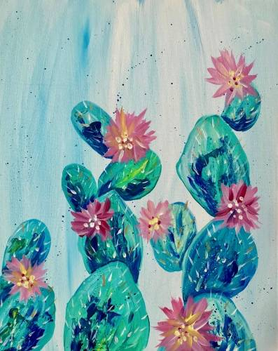 A Cactus Blossoms paint nite project by Yaymaker