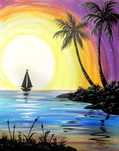 A I am Sailing paint nite project by Yaymaker
