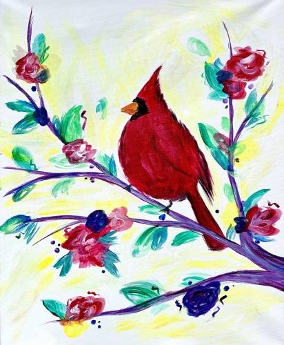 A Happy Cardinal paint nite project by Yaymaker