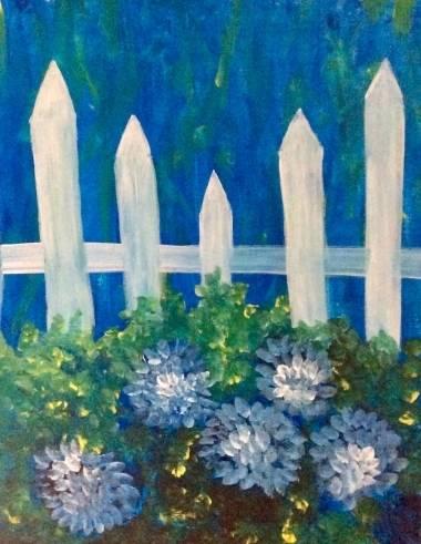 A Hydrangea Danger paint nite project by Yaymaker