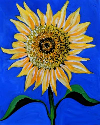 A Summer Sunflower II paint nite project by Yaymaker
