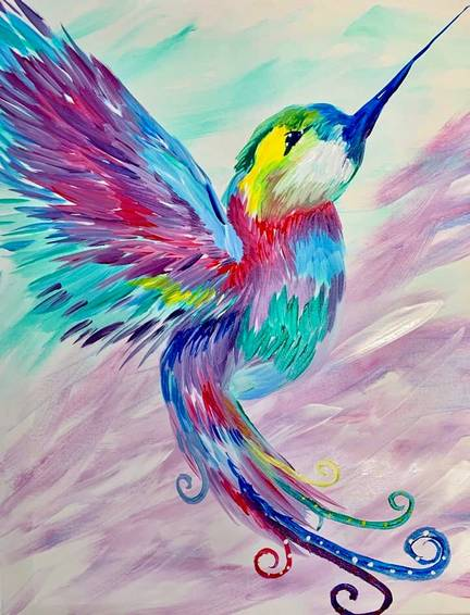A Rainbow Flutter II paint nite project by Yaymaker