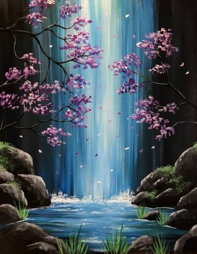 A Lavender Falls paint nite project by Yaymaker
