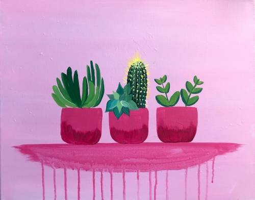A Pink Paradise V paint nite project by Yaymaker