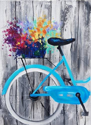 A Blooming Bicycle paint nite project by Yaymaker