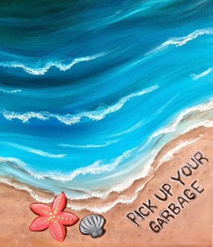 A Keep The Ocean Clean paint nite project by Yaymaker
