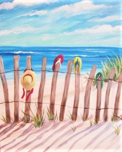 A Flip Flop Beach paint nite project by Yaymaker