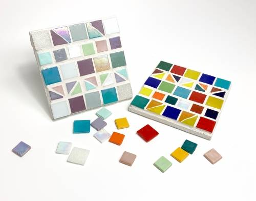 A Design your own Mosaic Coasters make a mosaic project by Yaymaker