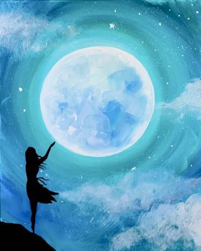 A Touch the Moon paint nite project by Yaymaker