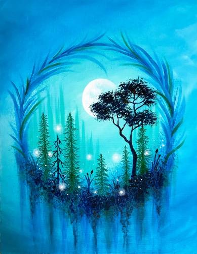 A Forest Wreath paint nite project by Yaymaker
