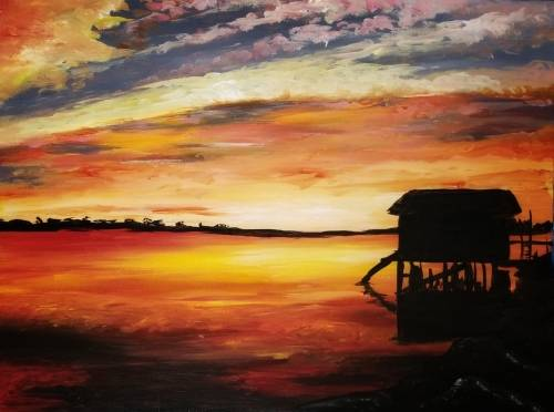 A River of Fire II paint nite project by Yaymaker