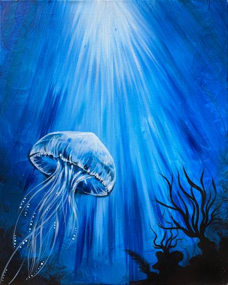 A Blue Jelly paint nite project by Yaymaker