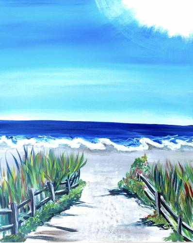A Jersey Shore Beach paint nite project by Yaymaker