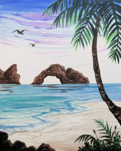 A Vacay Mood paint nite project by Yaymaker