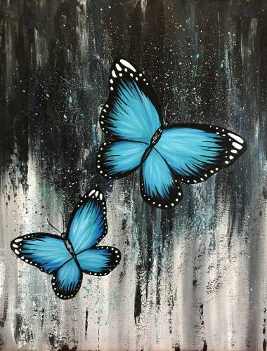 A Blue Steel Butterflies paint nite project by Yaymaker