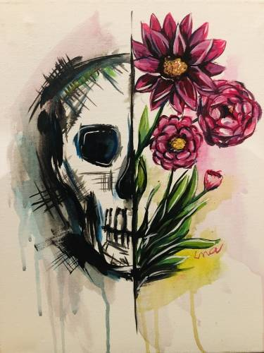 A Skull Drip II paint nite project by Yaymaker