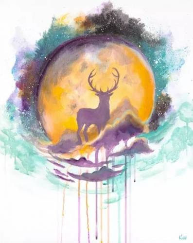 A Spirit Elk Moon paint nite project by Yaymaker