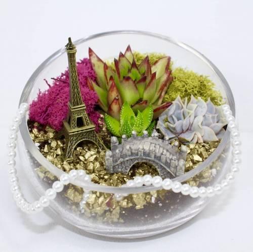 A I Love Paris Terrarium plant nite project by Yaymaker