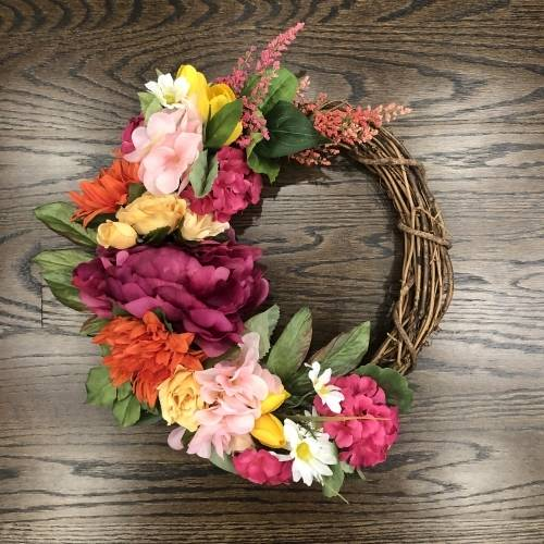 A Tropical Summer Time Wreath plant nite project by Yaymaker