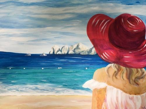 A Dreaming of Cabo paint nite project by Yaymaker