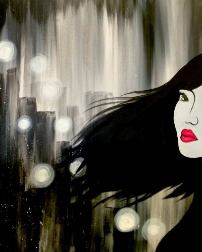 A Red Lips in a Big City paint nite project by Yaymaker