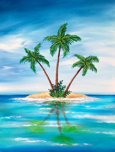 A My Own Private Island paint nite project by Yaymaker