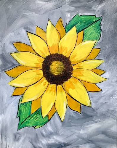 A Youre A Sunflower paint nite project by Yaymaker